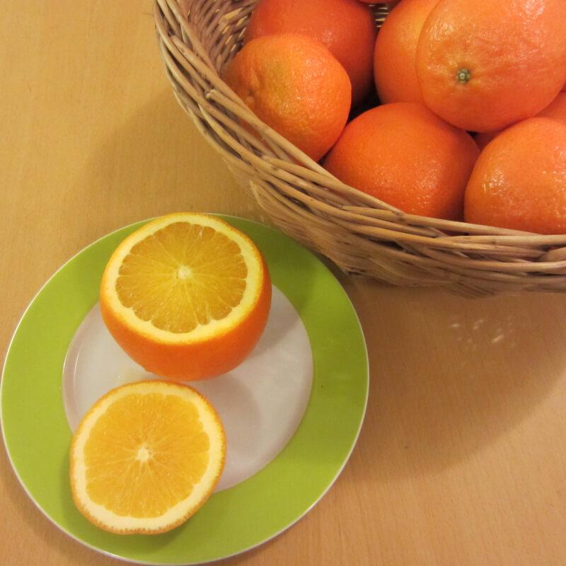 Narancs előkészítése