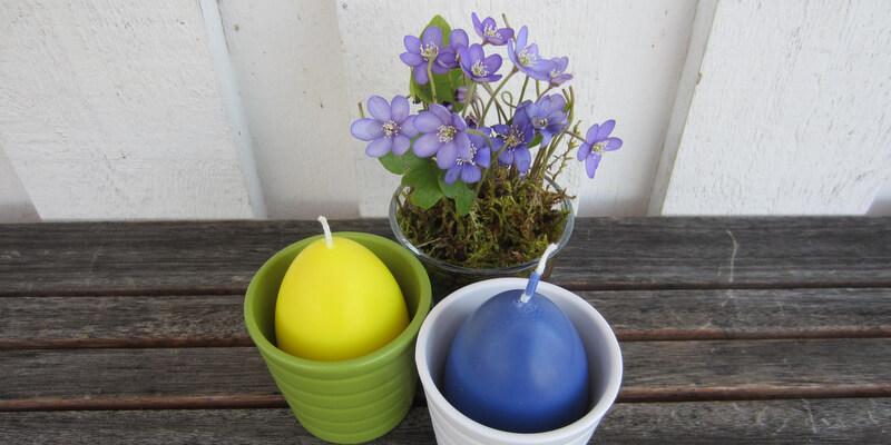 Húsvéti dekoráció – tojásgyertyák készítése