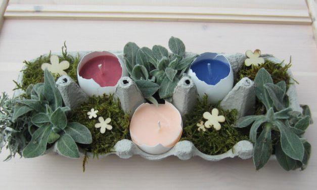 Pofonegyszerű húsvéti dekoráció tojásból