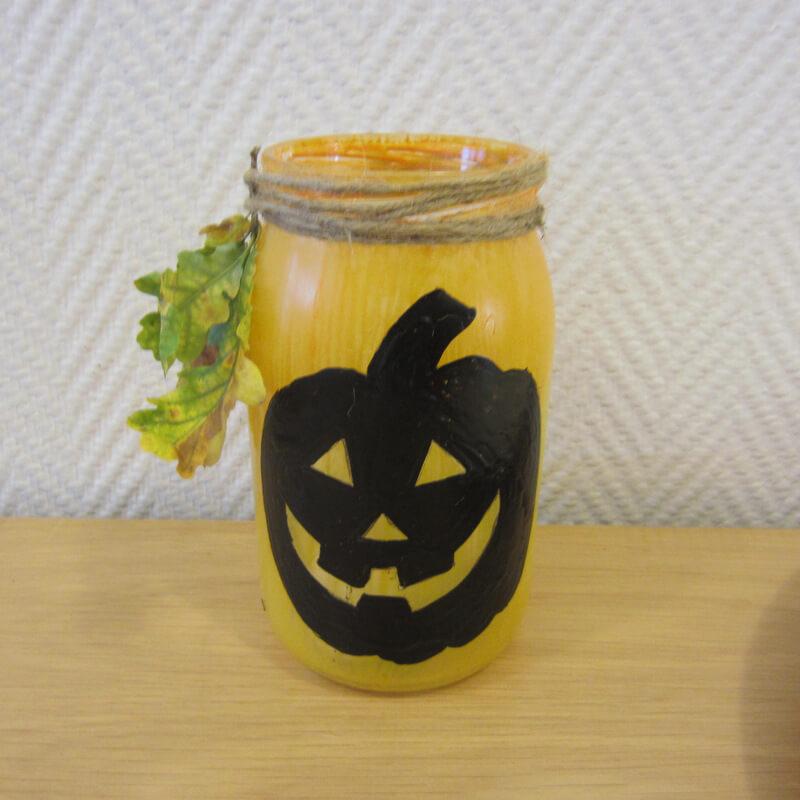Kész a halloween lámpás beföttes üvegböl