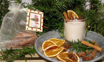 Karácsonyi gyertya a természet kincseiből
