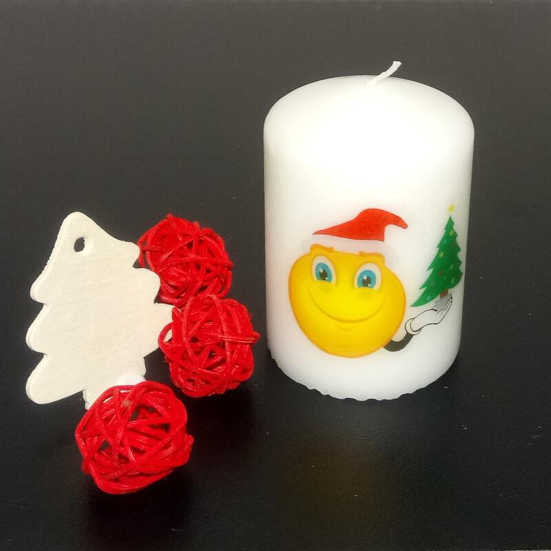Olcsó karácsonyi ajándék gyertya fenyőfa mintával