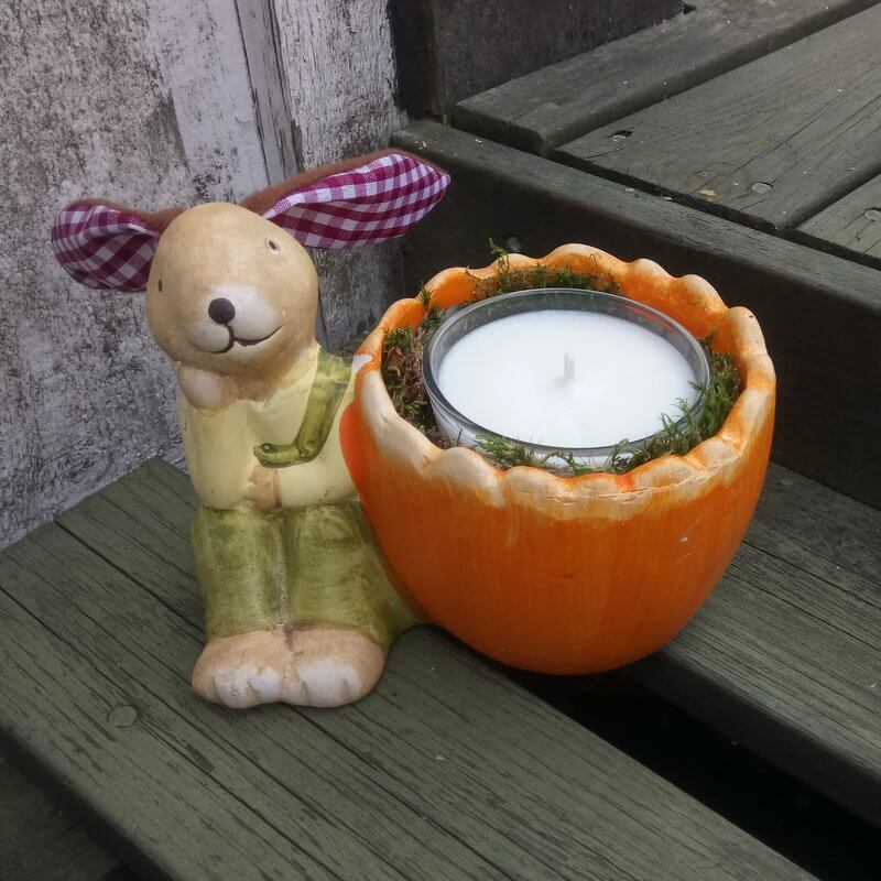 Kész a húsvéti nyuszis gyertya