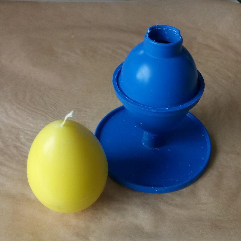 Sárga tojásgyertya készítése