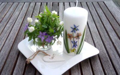 Anyák napi kreatív ajándék – mezei virágos gyertya