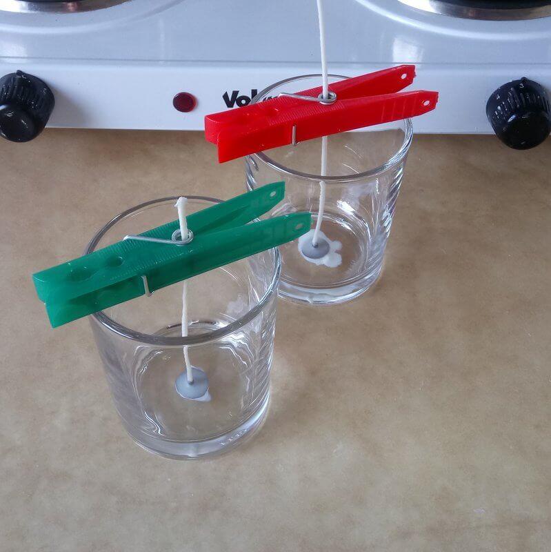Kanóc elökészítése repceviasz gyertyához